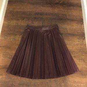 Brooks Brother pleather skirt(burgundy)
